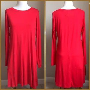 NWT slinky red jersey knit dress, size M